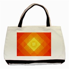 Pattern Retired Background Orange Basic Tote Bag (Two Sides)