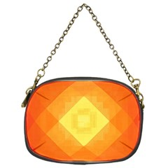 Pattern Retired Background Orange Chain Purses (Two Sides)
