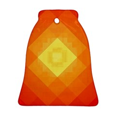 Pattern Retired Background Orange Bell Ornament (Two Sides)