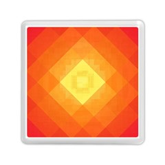Pattern Retired Background Orange Memory Card Reader (Square)