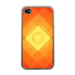 Pattern Retired Background Orange Apple iPhone 4 Case (Clear)
