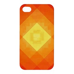 Pattern Retired Background Orange Apple iPhone 4/4S Premium Hardshell Case