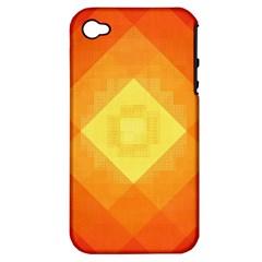 Pattern Retired Background Orange Apple Iphone 4/4s Hardshell Case (pc+silicone)