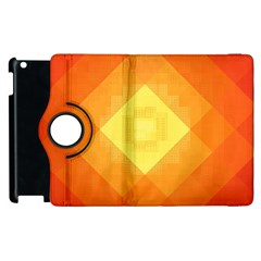 Pattern Retired Background Orange Apple Ipad 2 Flip 360 Case