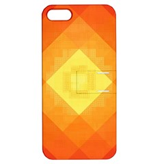 Pattern Retired Background Orange Apple Iphone 5 Hardshell Case With Stand