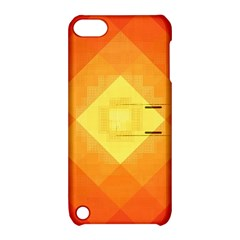 Pattern Retired Background Orange Apple Ipod Touch 5 Hardshell Case With Stand