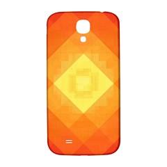Pattern Retired Background Orange Samsung Galaxy S4 I9500/i9505  Hardshell Back Case
