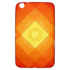 Pattern Retired Background Orange Samsung Galaxy Tab 3 (8 ) T3100 Hardshell Case