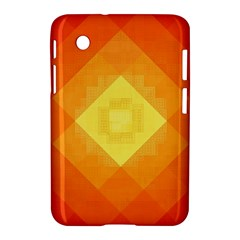Pattern Retired Background Orange Samsung Galaxy Tab 2 (7 ) P3100 Hardshell Case