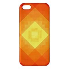 Pattern Retired Background Orange iPhone 5S/ SE Premium Hardshell Case