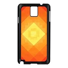 Pattern Retired Background Orange Samsung Galaxy Note 3 N9005 Case (black)