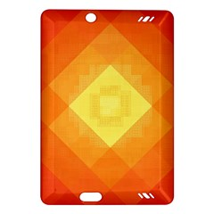 Pattern Retired Background Orange Amazon Kindle Fire Hd (2013) Hardshell Case