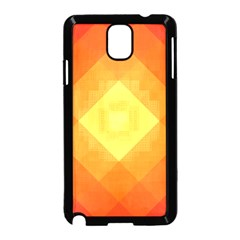 Pattern Retired Background Orange Samsung Galaxy Note 3 Neo Hardshell Case (black)