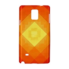 Pattern Retired Background Orange Samsung Galaxy Note 4 Hardshell Case
