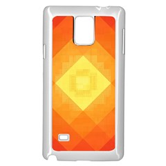 Pattern Retired Background Orange Samsung Galaxy Note 4 Case (White)