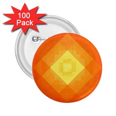 Pattern Retired Background Orange 2.25  Buttons (100 pack)