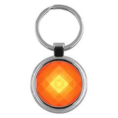 Pattern Retired Background Orange Key Chains (round)