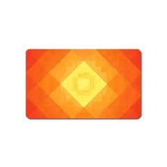 Pattern Retired Background Orange Magnet (name Card)