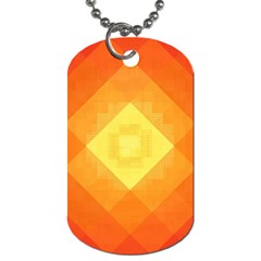 Pattern Retired Background Orange Dog Tag (two Sides)