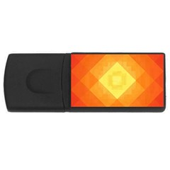Pattern Retired Background Orange USB Flash Drive Rectangular (2 GB)