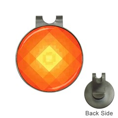 Pattern Retired Background Orange Hat Clips with Golf Markers