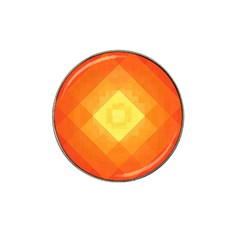 Pattern Retired Background Orange Hat Clip Ball Marker (10 Pack)