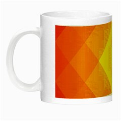 Pattern Retired Background Orange Night Luminous Mugs