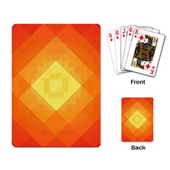 Pattern Retired Background Orange Playing Card
