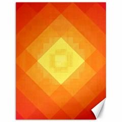 Pattern Retired Background Orange Canvas 18  X 24