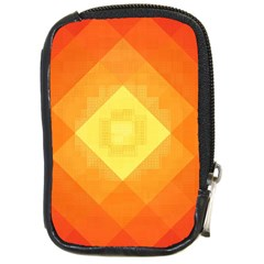 Pattern Retired Background Orange Compact Camera Cases