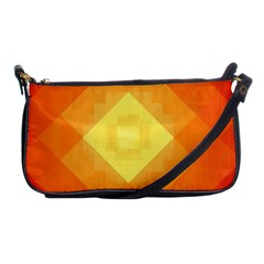 Pattern Retired Background Orange Shoulder Clutch Bags