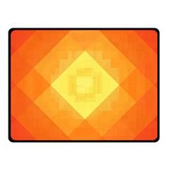 Pattern Retired Background Orange Fleece Blanket (small)