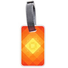 Pattern Retired Background Orange Luggage Tags (one Side)