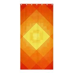 Pattern Retired Background Orange Shower Curtain 36  x 72  (Stall)
