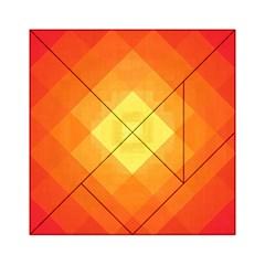 Pattern Retired Background Orange Acrylic Tangram Puzzle (6  X 6 )