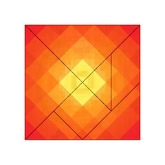 Pattern Retired Background Orange Acrylic Tangram Puzzle (4  X 4 )