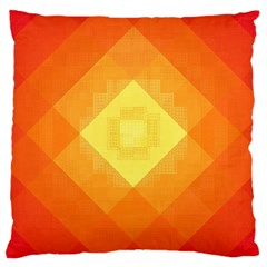 Pattern Retired Background Orange Large Cushion Case (two Sides)