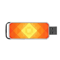 Pattern Retired Background Orange Portable Usb Flash (one Side)