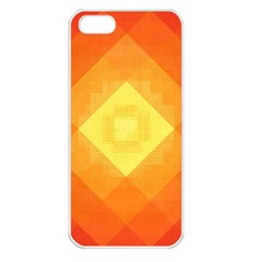 Pattern Retired Background Orange Apple iPhone 5 Seamless Case (White)