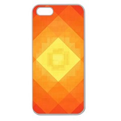 Pattern Retired Background Orange Apple Seamless iPhone 5 Case (Clear)