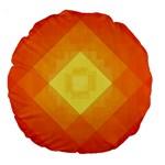 Pattern Retired Background Orange Large 18  Premium Round Cushions Back