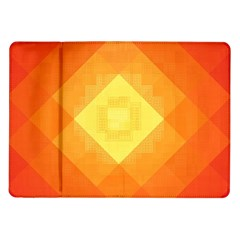 Pattern Retired Background Orange Samsung Galaxy Tab 10 1  P7500 Flip Case