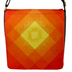 Pattern Retired Background Orange Flap Messenger Bag (S)