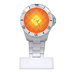 Pattern Retired Background Orange Plastic Nurses Watch