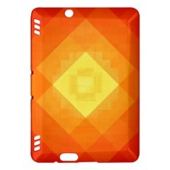 Pattern Retired Background Orange Kindle Fire Hdx Hardshell Case