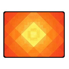Pattern Retired Background Orange Double Sided Fleece Blanket (Small)
