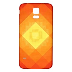 Pattern Retired Background Orange Samsung Galaxy S5 Back Case (white)