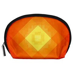 Pattern Retired Background Orange Accessory Pouches (Large)