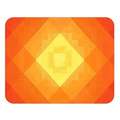 Pattern Retired Background Orange Double Sided Flano Blanket (Large)