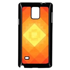 Pattern Retired Background Orange Samsung Galaxy Note 4 Case (Black)